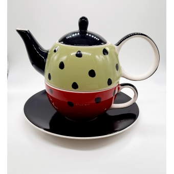 "Tea for one Set ""Dotty"""